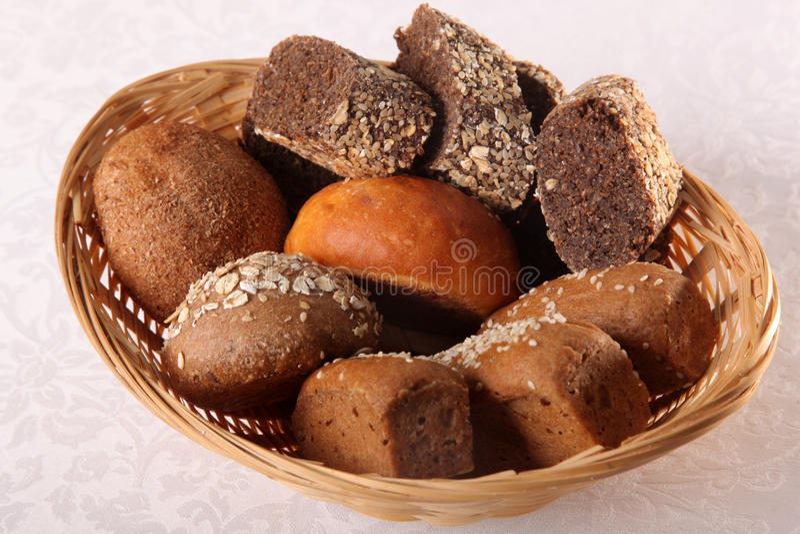 Bread basket on white backgroung stock illustration