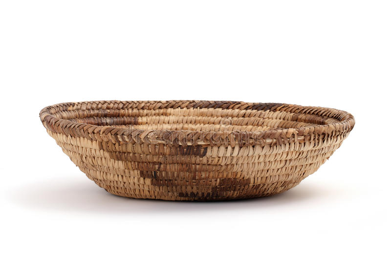 Bread basket on a white table royalty free stock images