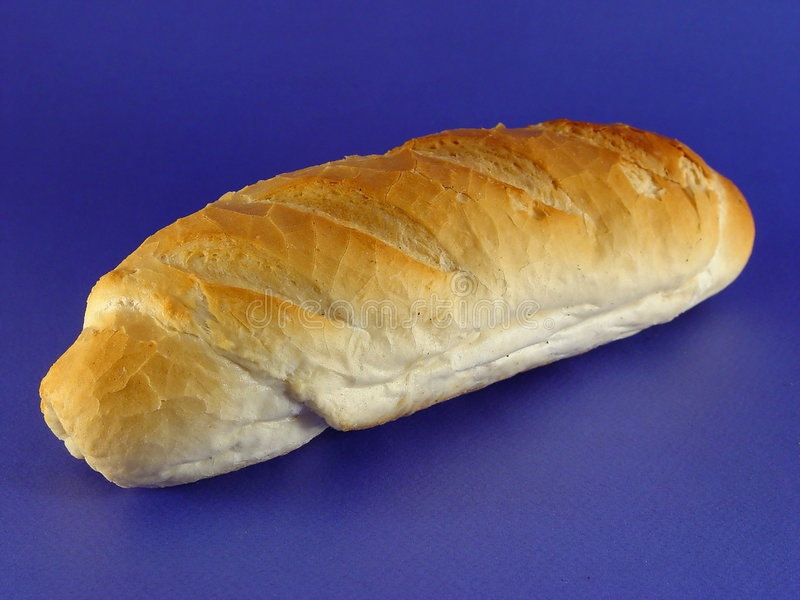 Bread on blue royalty free stock photo