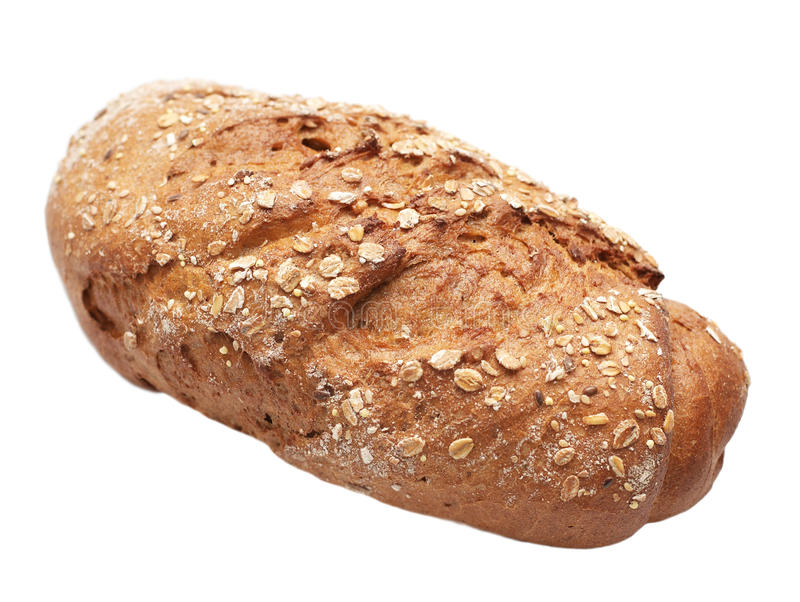Bread with bran royalty free stock photo