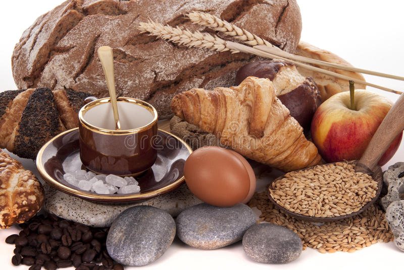 Download BREAD AND BREAKFAST stock image. Image of fresh, beverage - 39501341