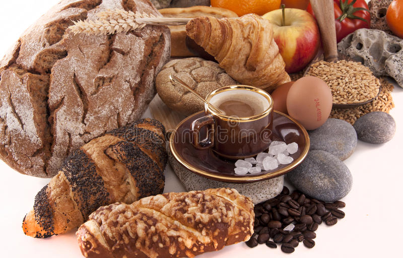 Download BREAD AND BREAKFAST stock photo. Image of food, wheat - 39501430