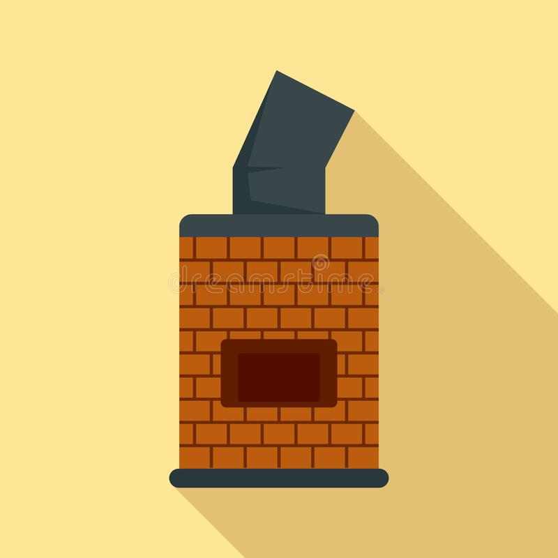 Bread brick oven icon, flat style vector illustration
