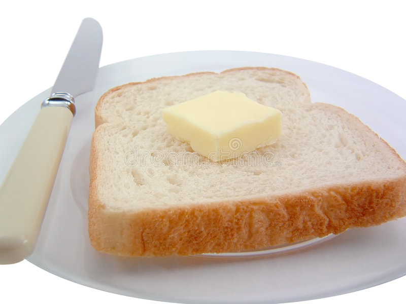 Download Bread and Butter stock image. Image of white, nutrition - 1171149