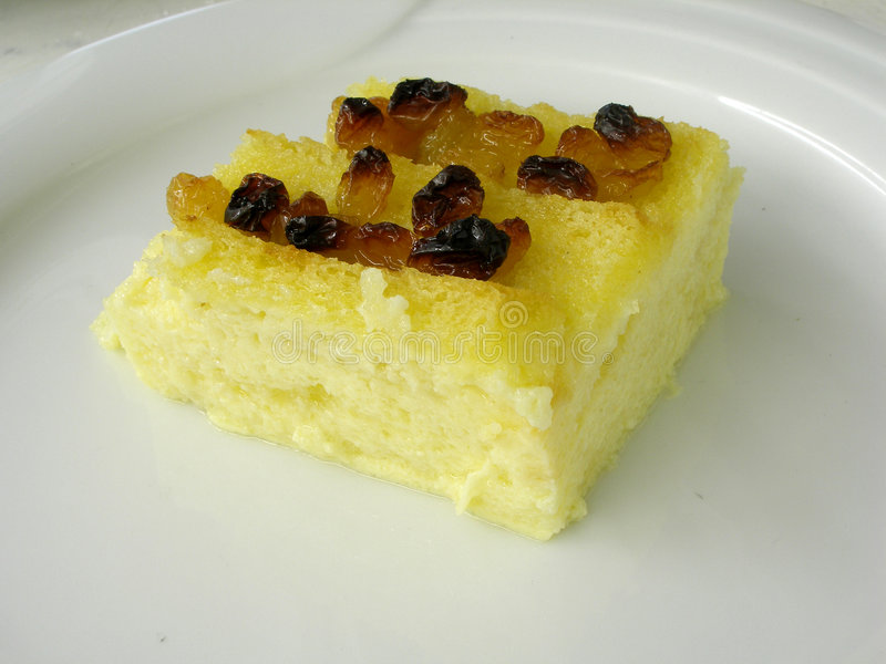 Bread and butter pudding 4 stock images