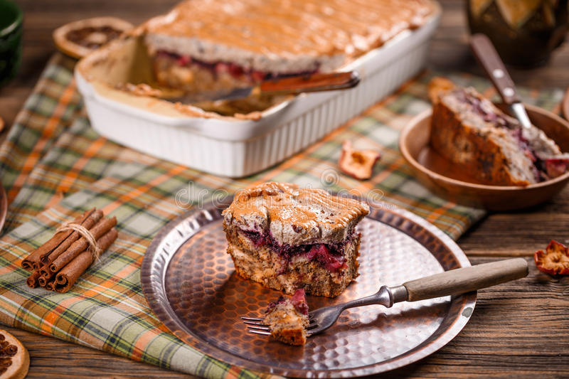 Download Bread and butter pudding stock photo. Image of baking - 83706736