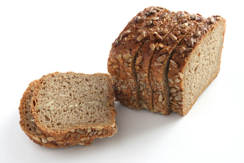 Bread with cereal stock photo