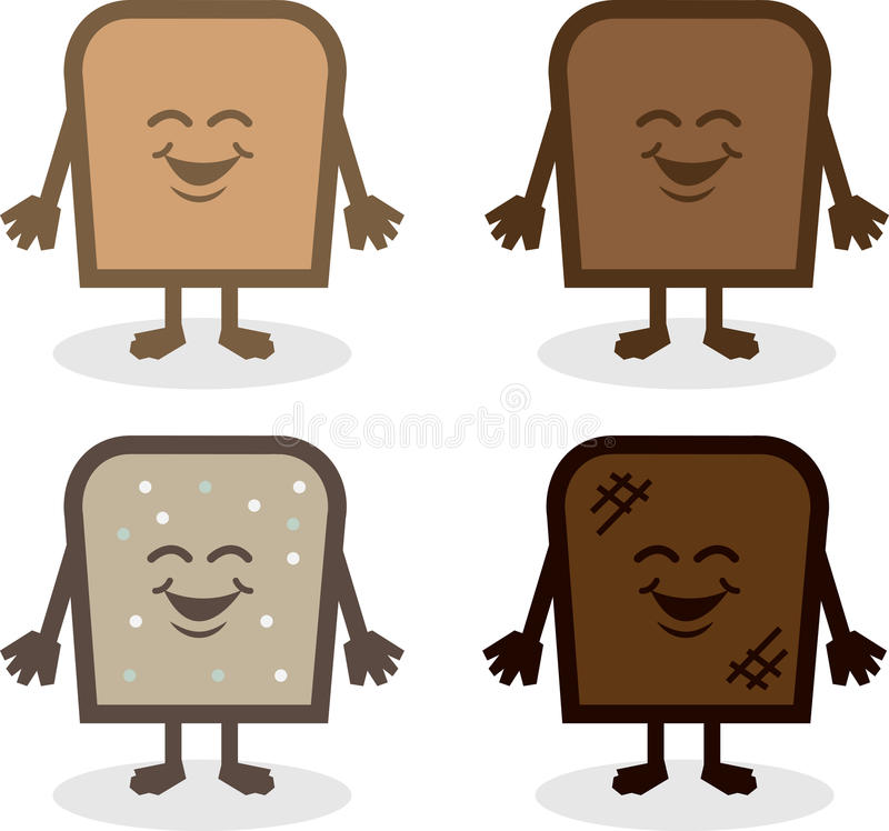 Download Bread Characters stock vector. Image of fattening, snack - 31334767