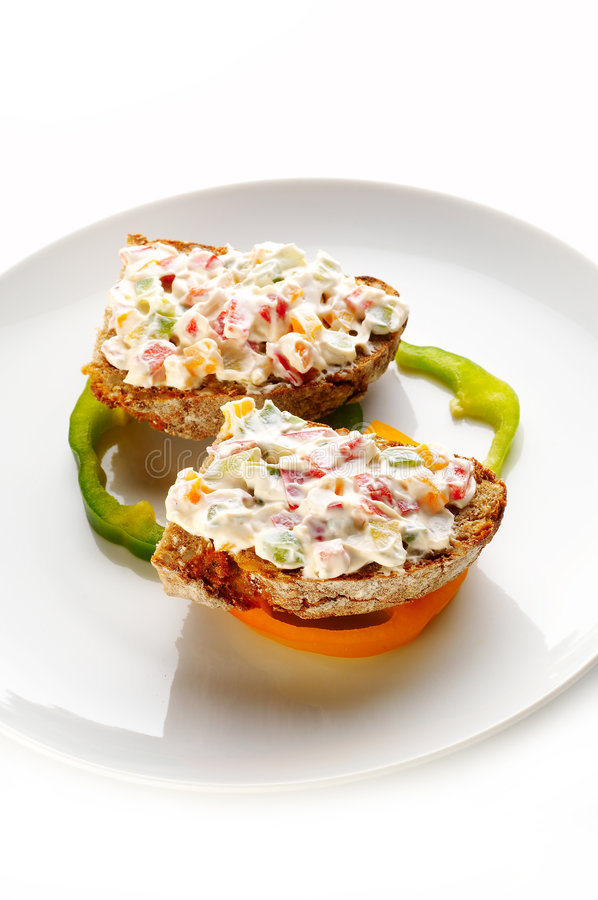 Bread with cheese cream