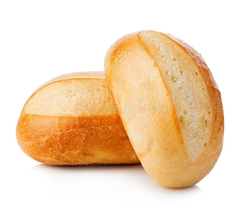 Bread close-up isolated on a white background. royalty free stock image