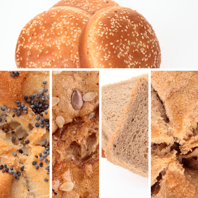Download Bread Collage stock photo. Image of seeds, collage, bakery - 13107406