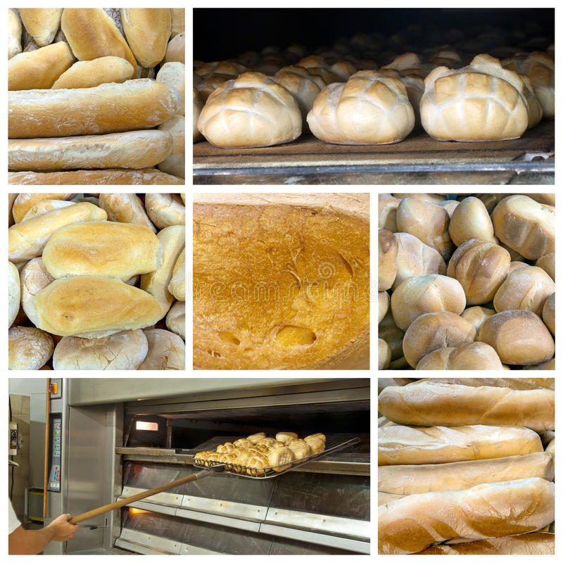 Bread collage stock images