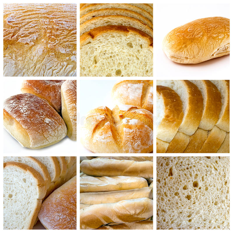 Bread collage royalty free stock photography