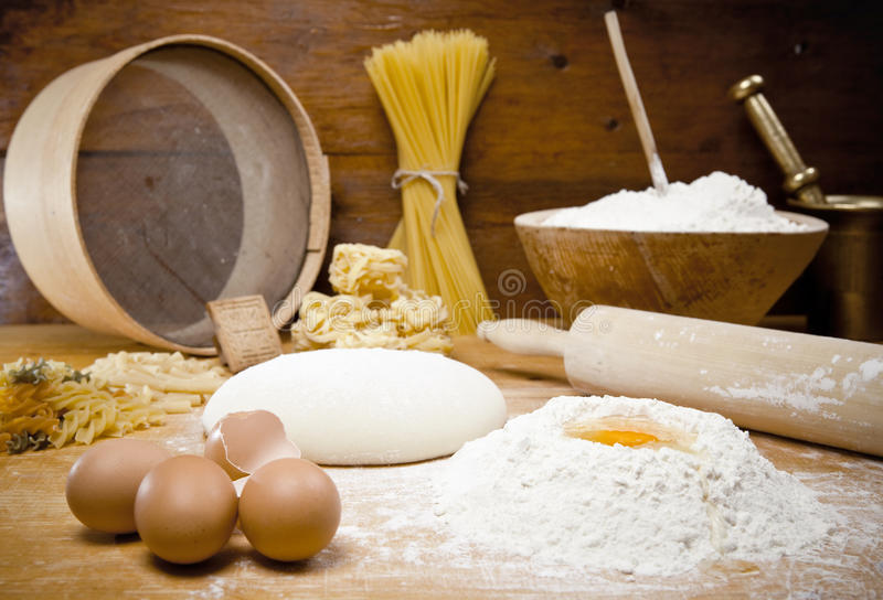 Bread Cooking. Means for making bread royalty free stock photography