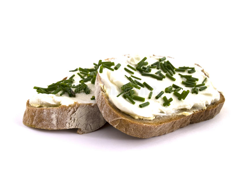 Bread with curd royalty free stock images
