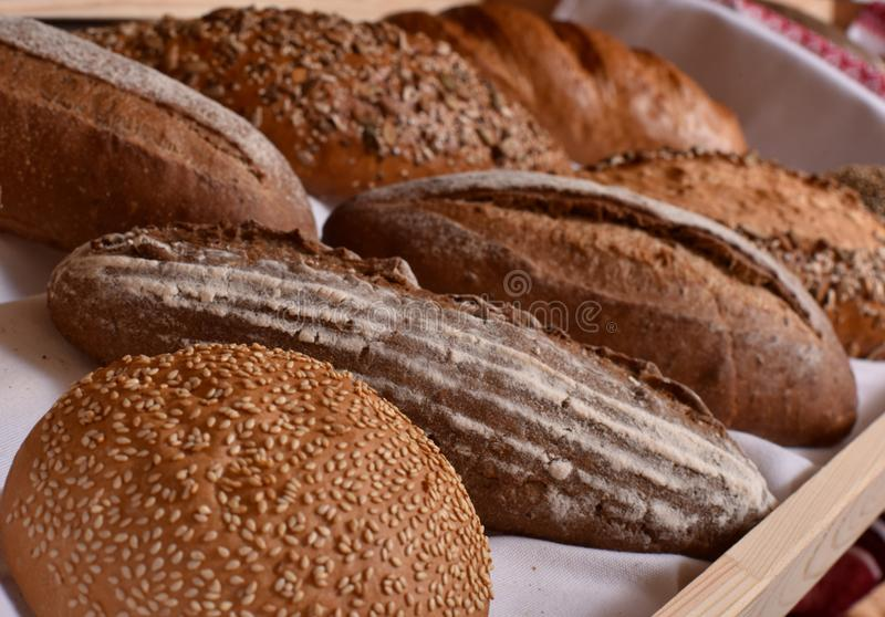 Bread of different varieties royalty free stock photography