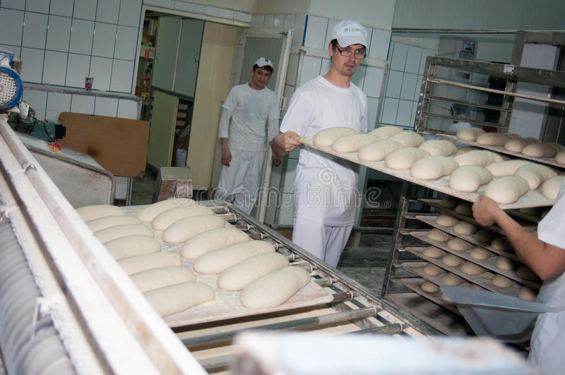 Bread factory stock image