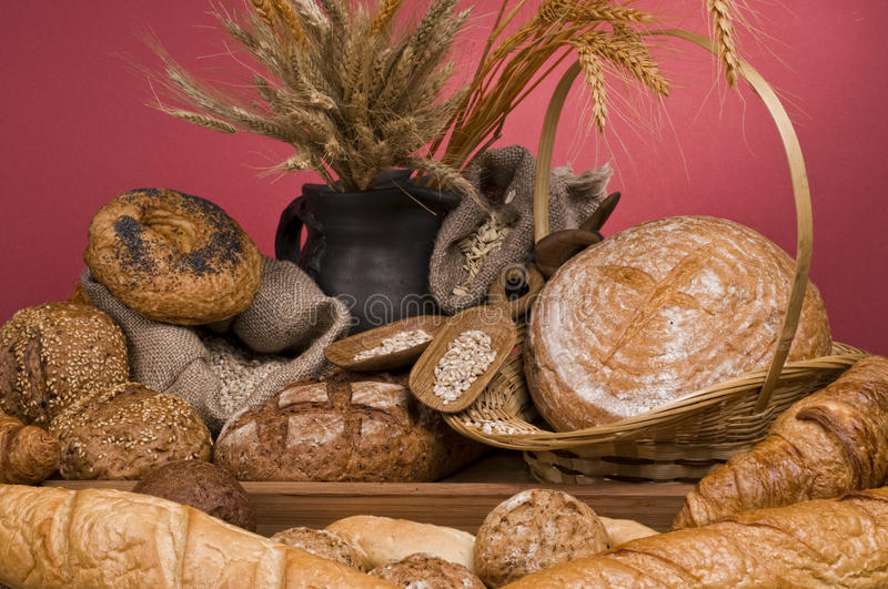 Bread fresh food stock photos
