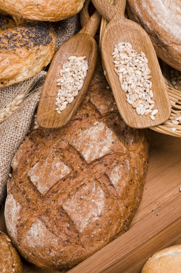 Bread fresh food stock photo