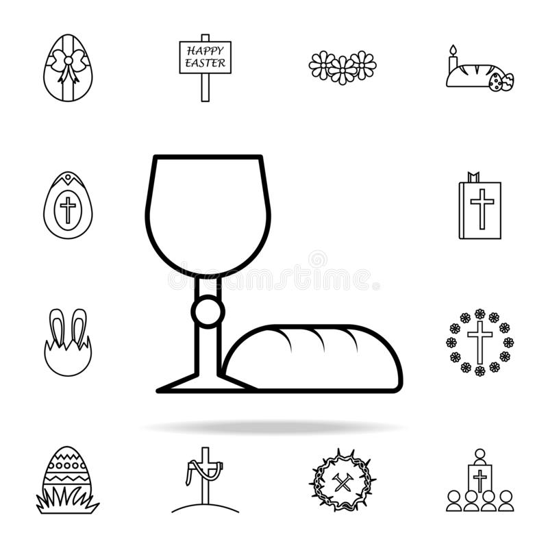 bread and grail icon. Easter icons universal set for web and mobile royalty free illustration