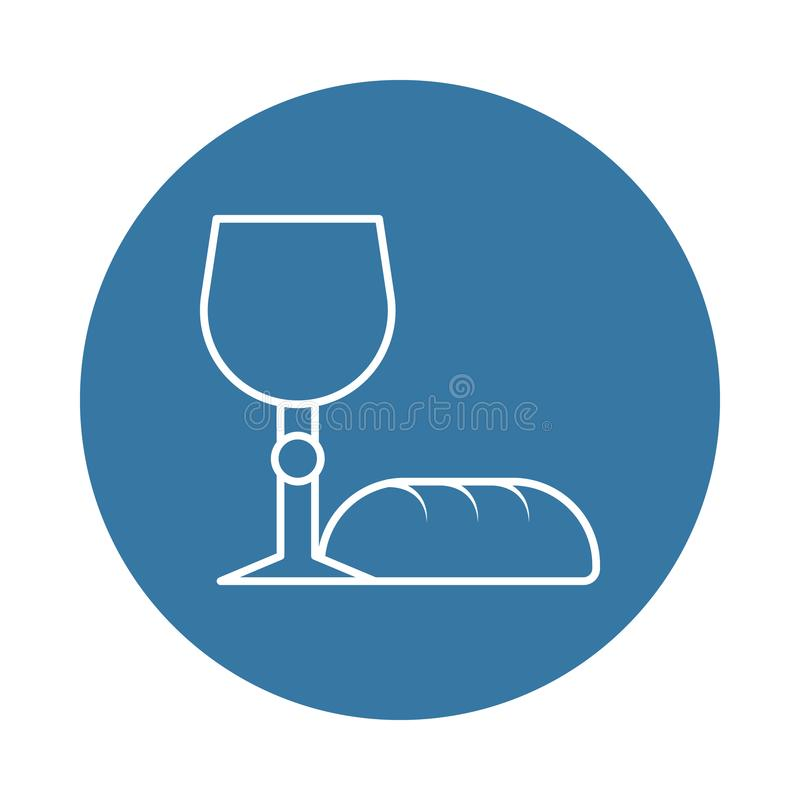 bread and grail icon. Element of easter icons for mobile concept and web apps. Badge style bread and grail icon can be used for we royalty free illustration