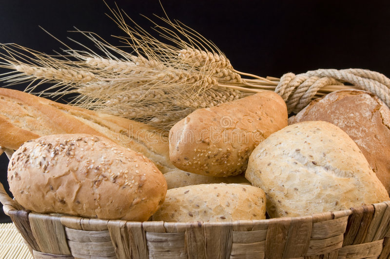 Bread and grain royalty free stock photography