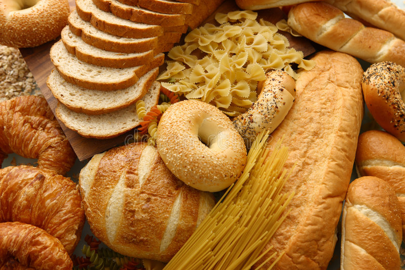 Bread group stock image