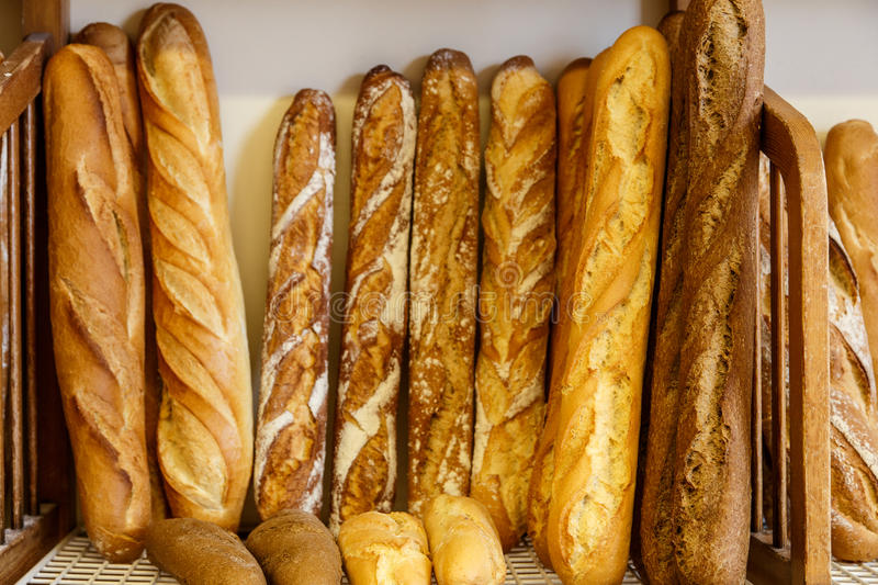 Bread group from bakery stock photo