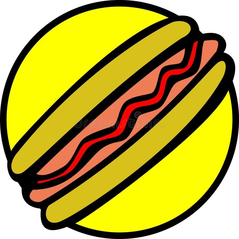 bread hotdog ketchup sausage vector απεικόνιση αποθεμάτων