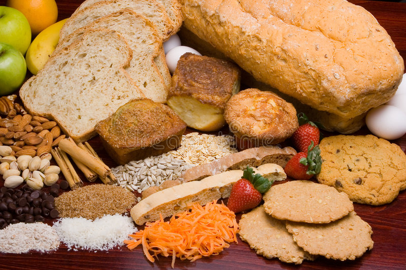 Bread ingredients stock photography