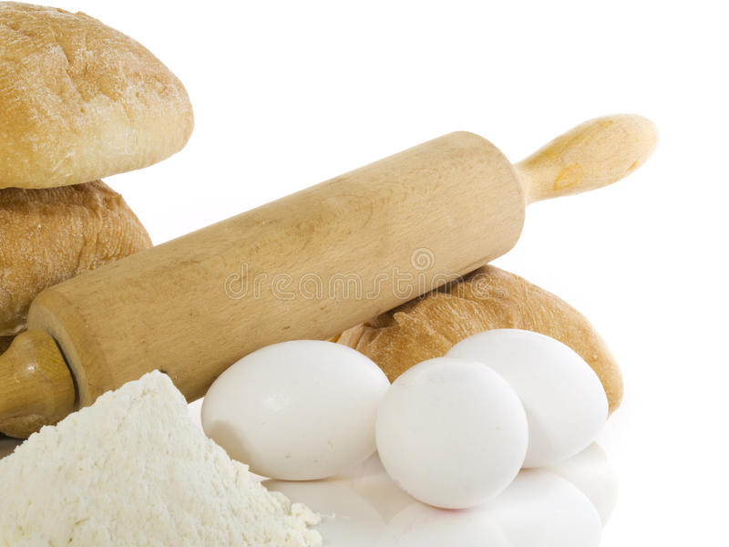 Bread ingredients royalty free stock photography