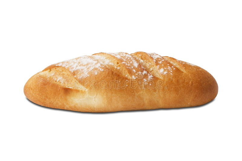 Bread isolated on white background stock photography