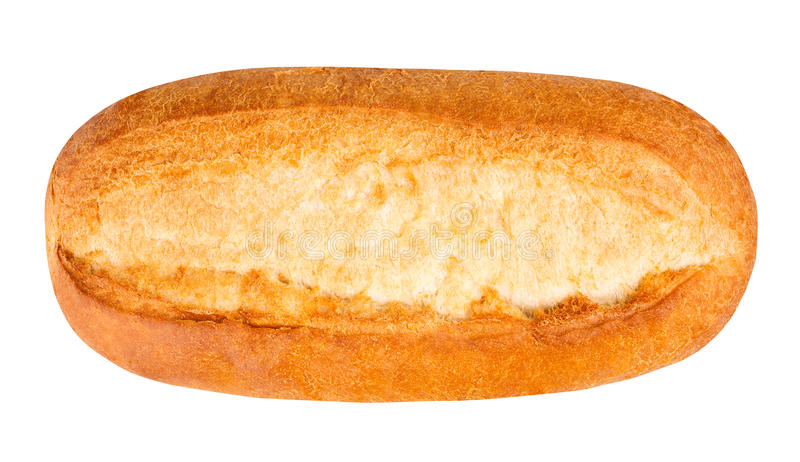 Bread isolated. On white top view royalty free stock photos