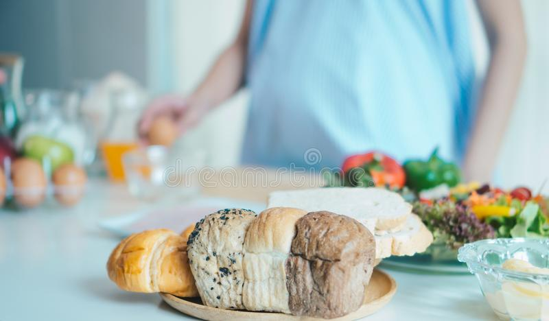 Bread in the kitchen royalty free stock photography
