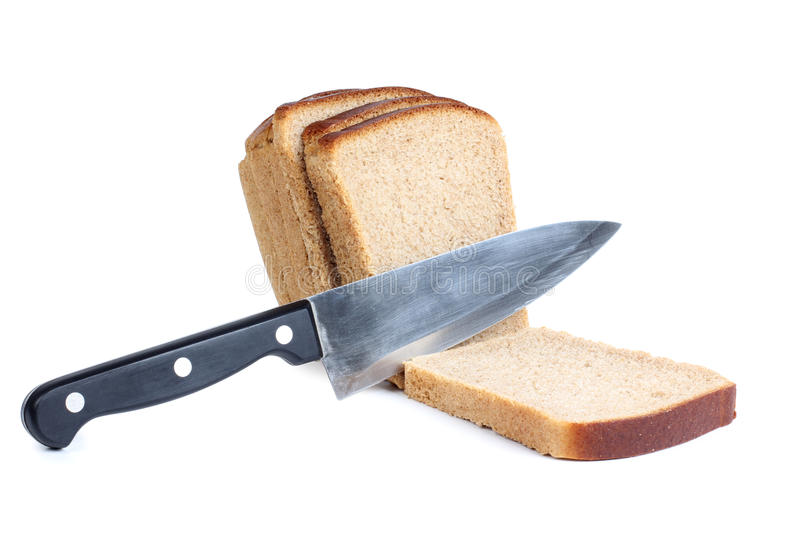 Download Bread and knife stock image. Image of nobody, snack, organic - 24157583