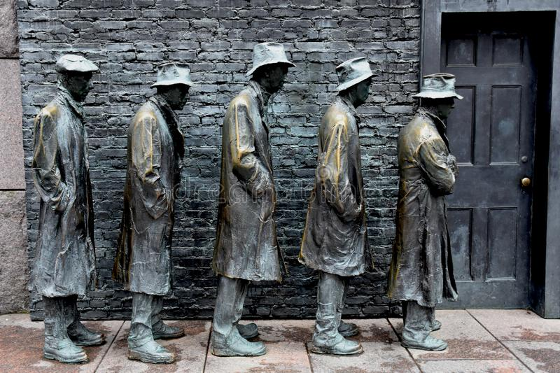 `The Bread Line` Sculpture by George Segal stock photos