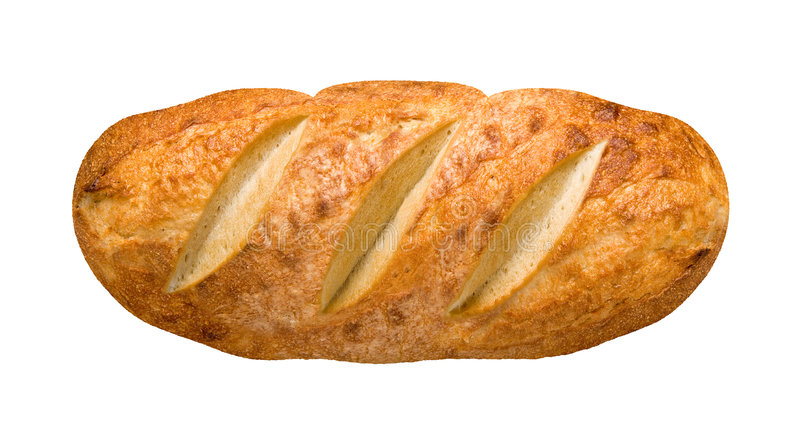 Bread Loaf (with clipping path). Bread Loaf isolated on a white background with a clipping path. Isolation is on a transparent layer in the PNG format royalty free stock photography