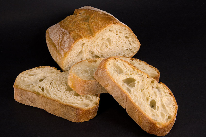 Download Bread loaf and slices stock photo. Image of divide, bakery - 1809754