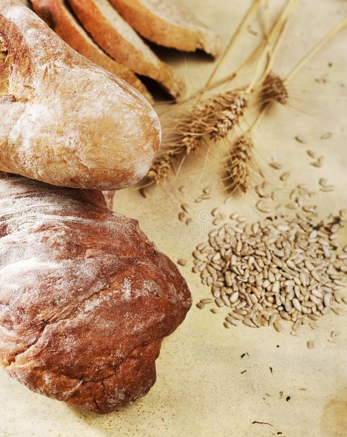 Bread loafs royalty free stock photography
