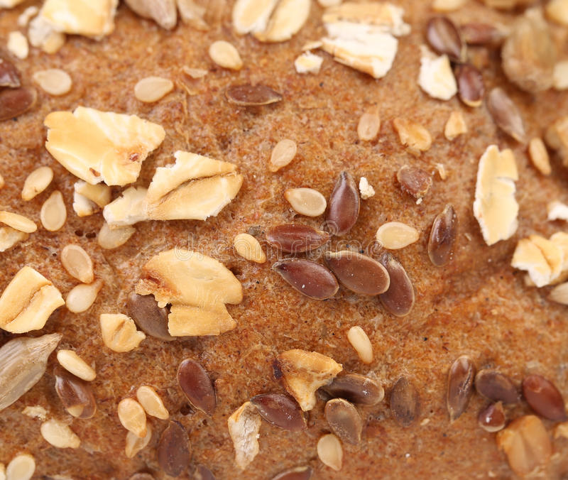 Bread made from whole grain. Close up stock images