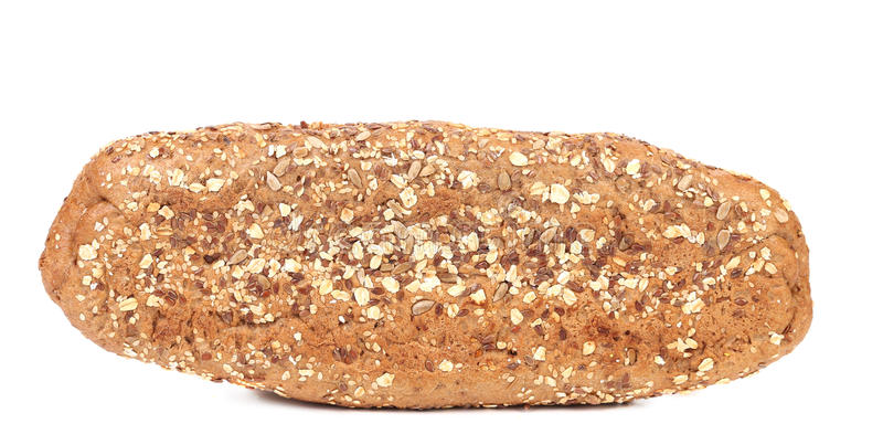 Bread made from whole grain. Isolated on a white background royalty free stock photography