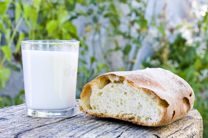 Bread And Milk Royalty Free Stock Image