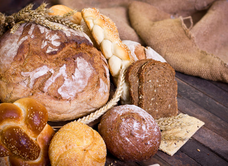 Bread and pastry royalty free stock images
