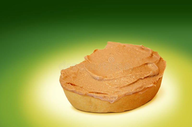 Bread and pate stock image
