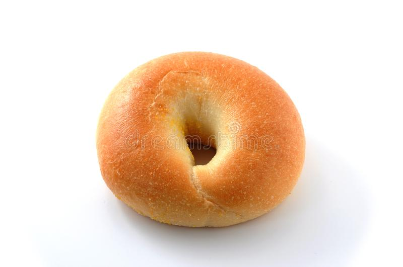Bread plain Bagel on the white background royalty free stock photos