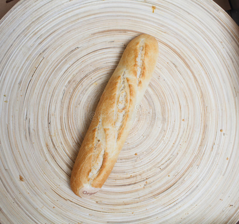 Bread on the plate stock photos