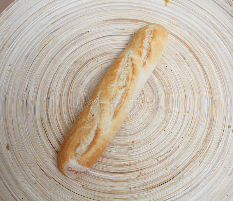 Bread on the plate stock photography