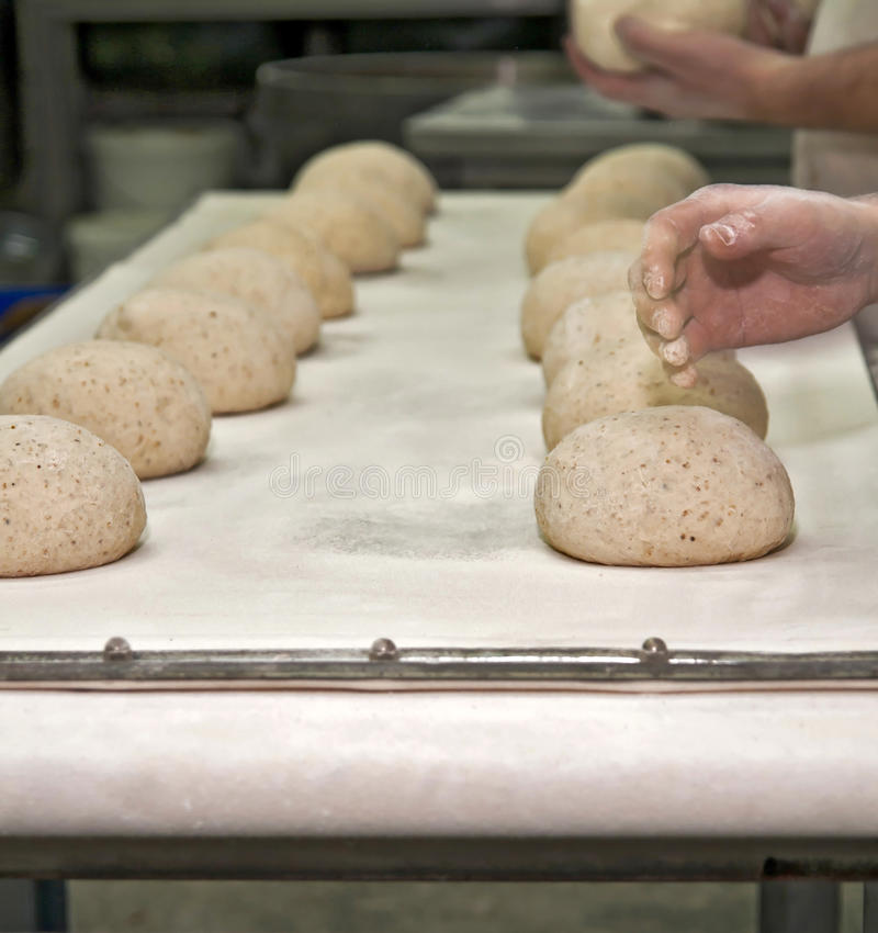 Bread production royalty free stock images