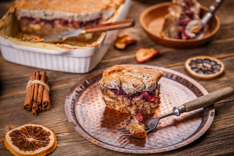 Download Bread pudding breakfast stock photo. Image of homemade - 83708128