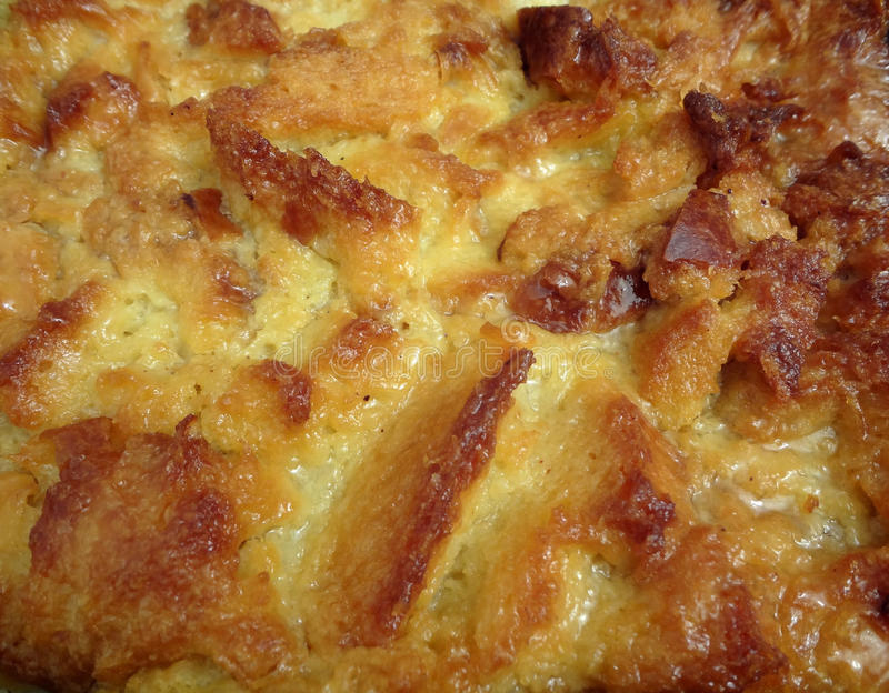 Bread Pudding Close-up royalty free stock photos